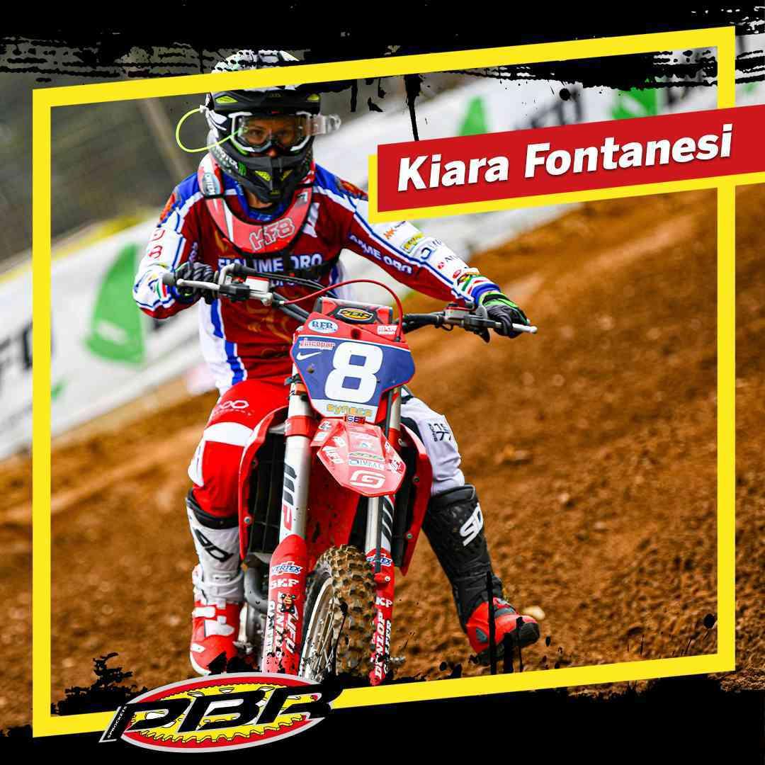 Kiara Fontanesi con manubrio PBR in ergal